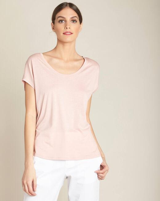 Puderrosa T-Shirt mit weitem Ausschnitt Eaven (2) - 1-2-3