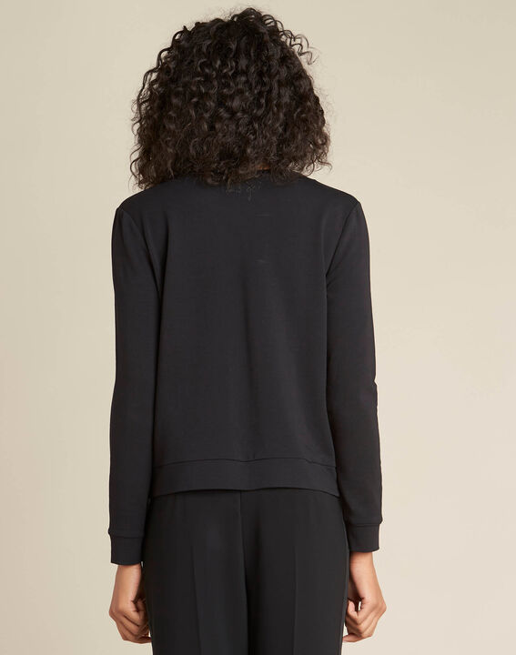Beco black T-shirt with embroidered beading (4) - 1-2-3