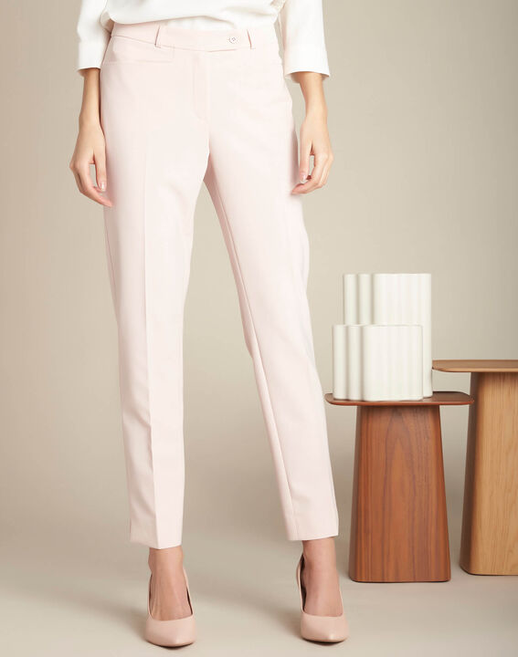 Valero tailored, pleated trousers in nude (3) - 1-2-3
