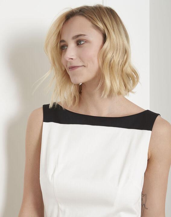 Robe noir & blanc colorblock Hisis (3) - Maison 123