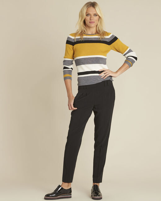 Bastien amber striped wool mix pullover (1) - 1-2-3