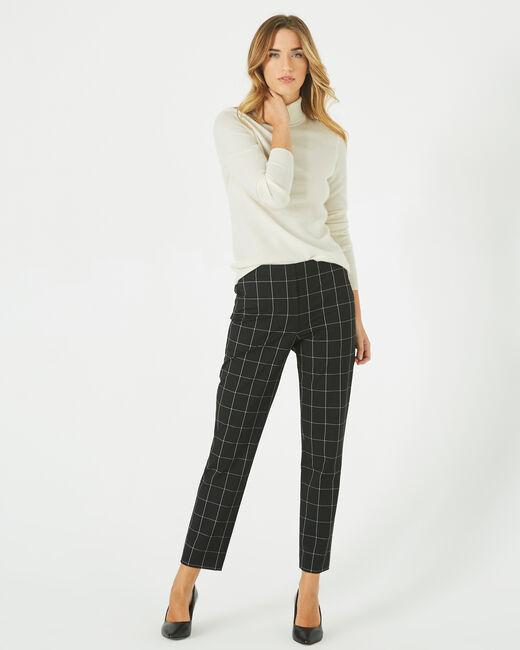 Pantalon de tailleur noir et blanc à carreaux Voltage (1) - 1-2-3
