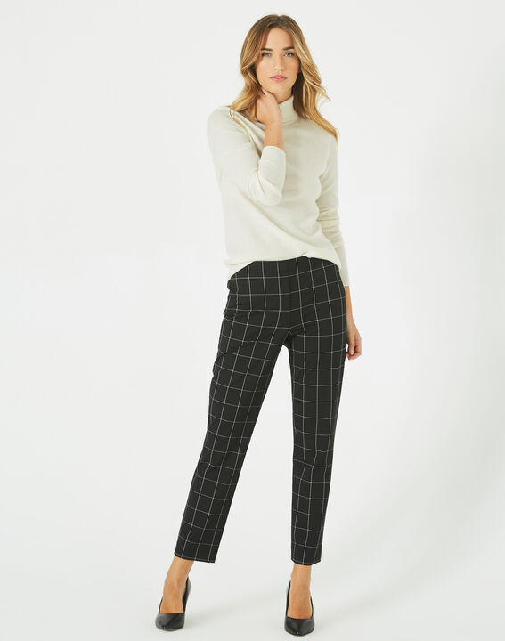 Voltage black and white check tailored trousers (2) - 1-2-3