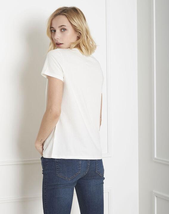 Tee-shirt écru imprimé fleuri Pilou (4) - Maison 123