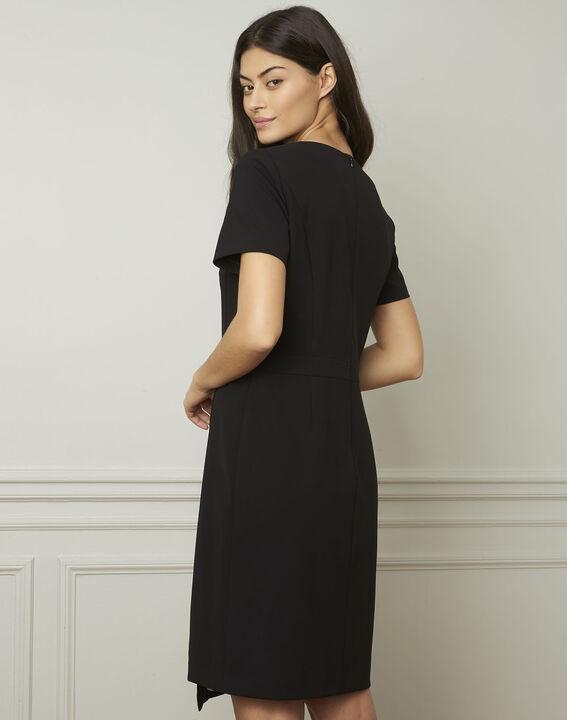 Schwarzes Kleid mit Knöpfen Lucia (3) - Maison 123