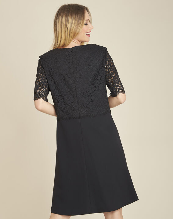 Narling dual-fabric black skate dress with lace top (4) - 1-2-3