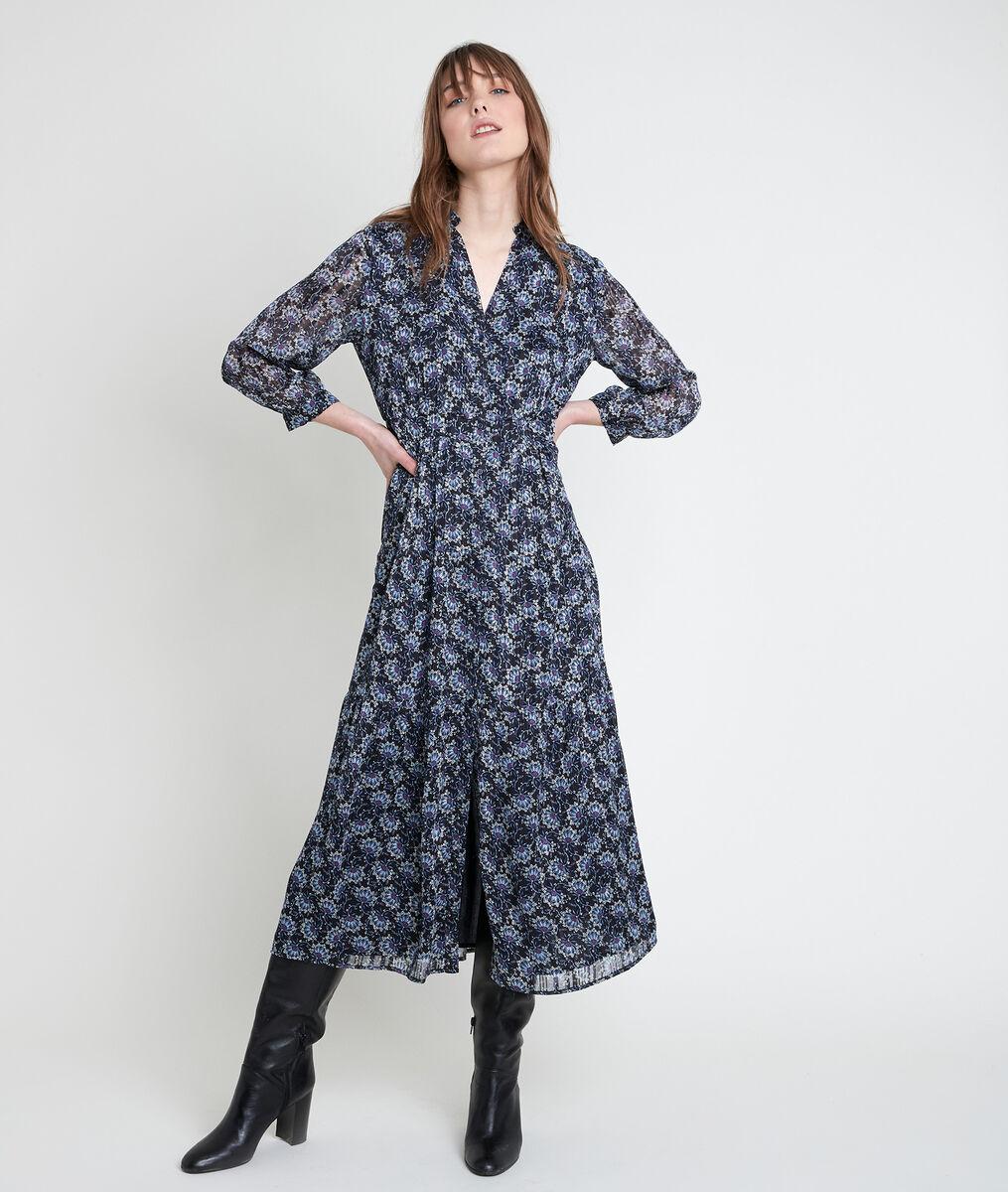 Robe longue imprimée Carola PhotoZ | 1-2-3
