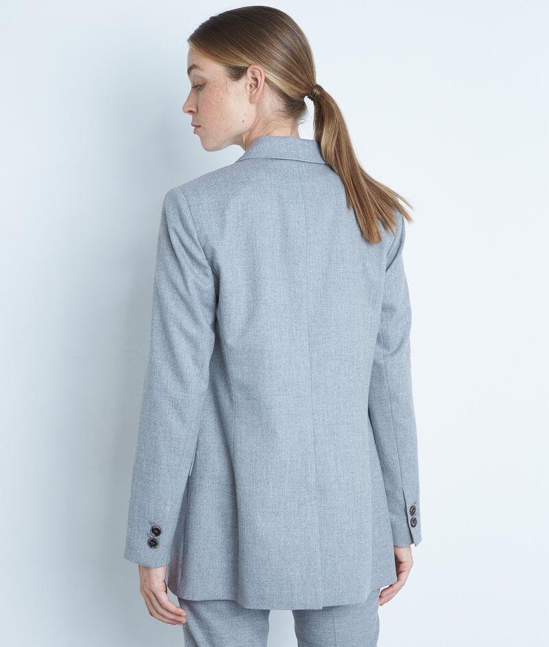 Veste de blazer croisée grise Florine PhotoZ   1-2-3