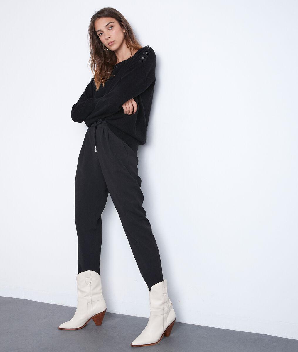 Pull en laine et cachemire Tanguy noir PhotoZ   1-2-3