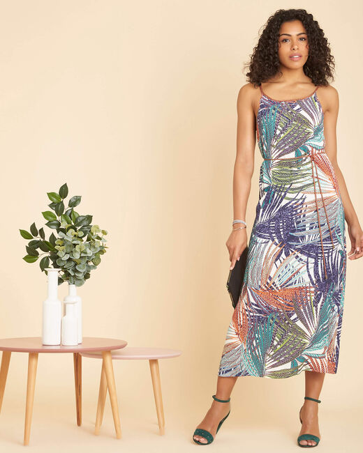 Papaye long printed multi-coloured dress (1) - 1-2-3