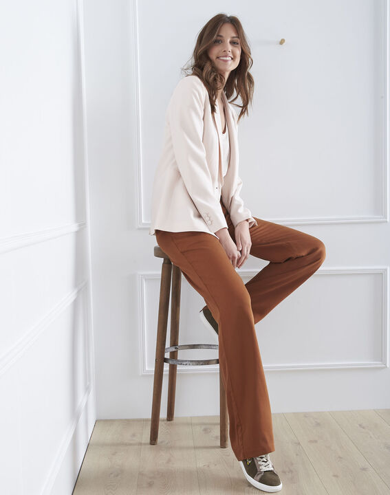 Pantalon marron large Giovanni (1) - Maison 123