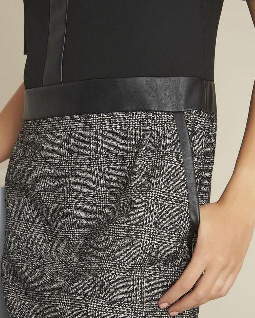 Robe noire bimatière Dizzy (2) - 1-2-3