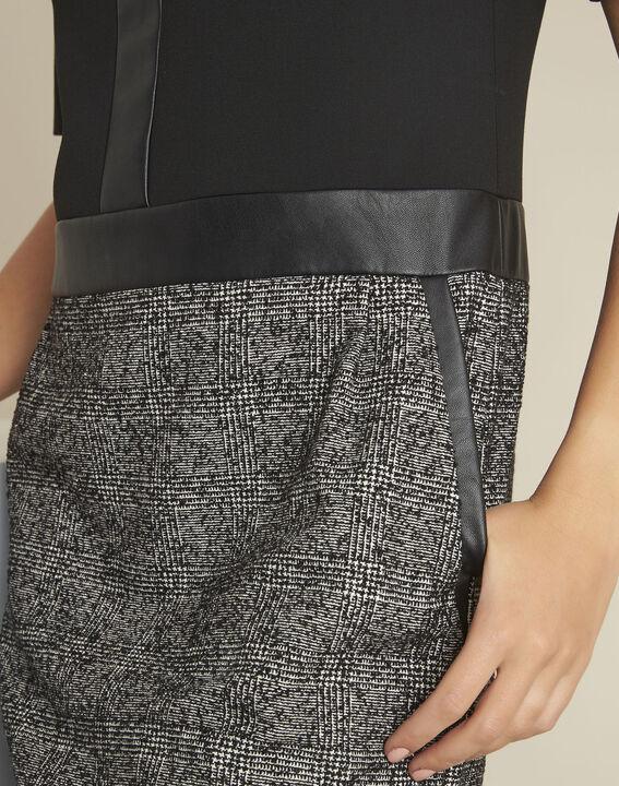 Dizzy black bi-material dress (2) - 1-2-3