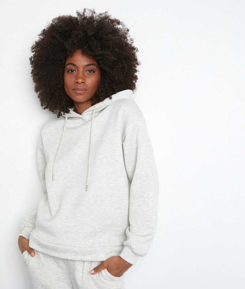 Sweatshirt mit Kapuze Molton mit Kordeln grau meliert Elie PhotoZ | 1-2-3