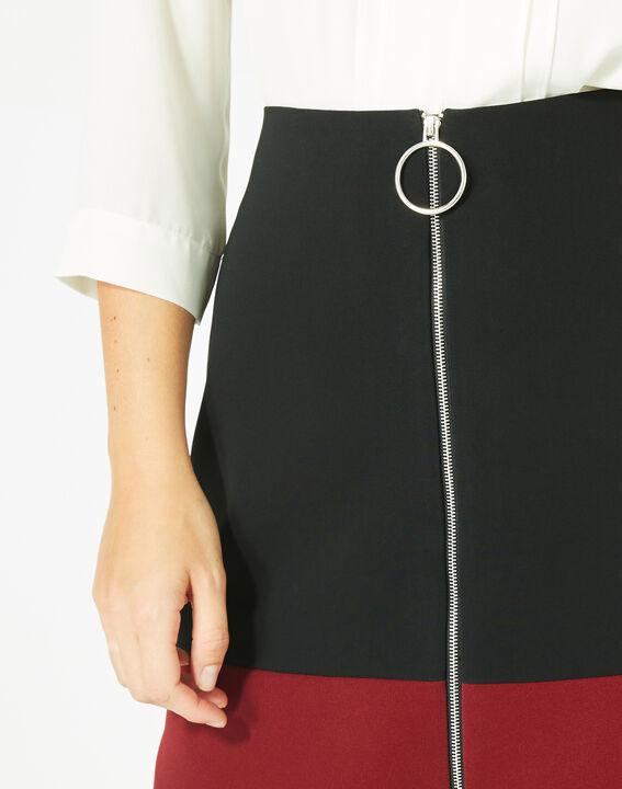 Jupe bicolore noire et carmin Fleury (4) - 1-2-3