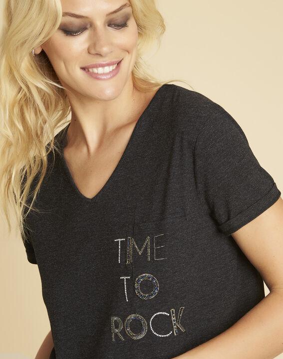 Garocky dark grey printed T-shirt (3) - 1-2-3