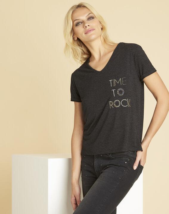 Tee-shirt gris foncé imprimé Garocky PhotoZ | 1-2-3