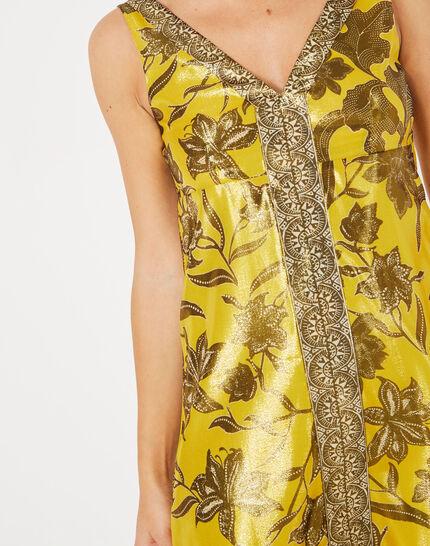 Robe jaune imprimé brillant Bonita (4) - 1-2-3