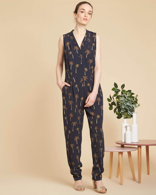 Palmier black jumpsuit with print (2) - 1-2-3