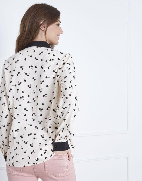 Lichtroos hemd met kersenprint Venus (4) - Maison 123