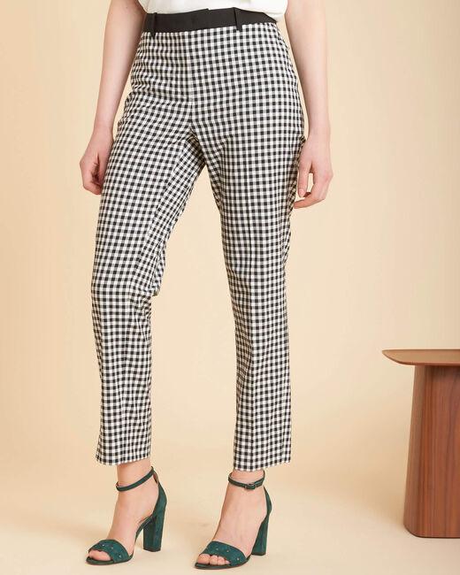 Pantalon imprimé vichy Rubis (2) - 1-2-3