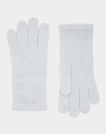 Blassblaue Kaschmir-Handschuhe Tulipe (1) - 1-2-3