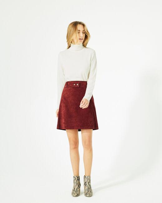 Diapo burgundy leather skirt (1) - 1-2-3