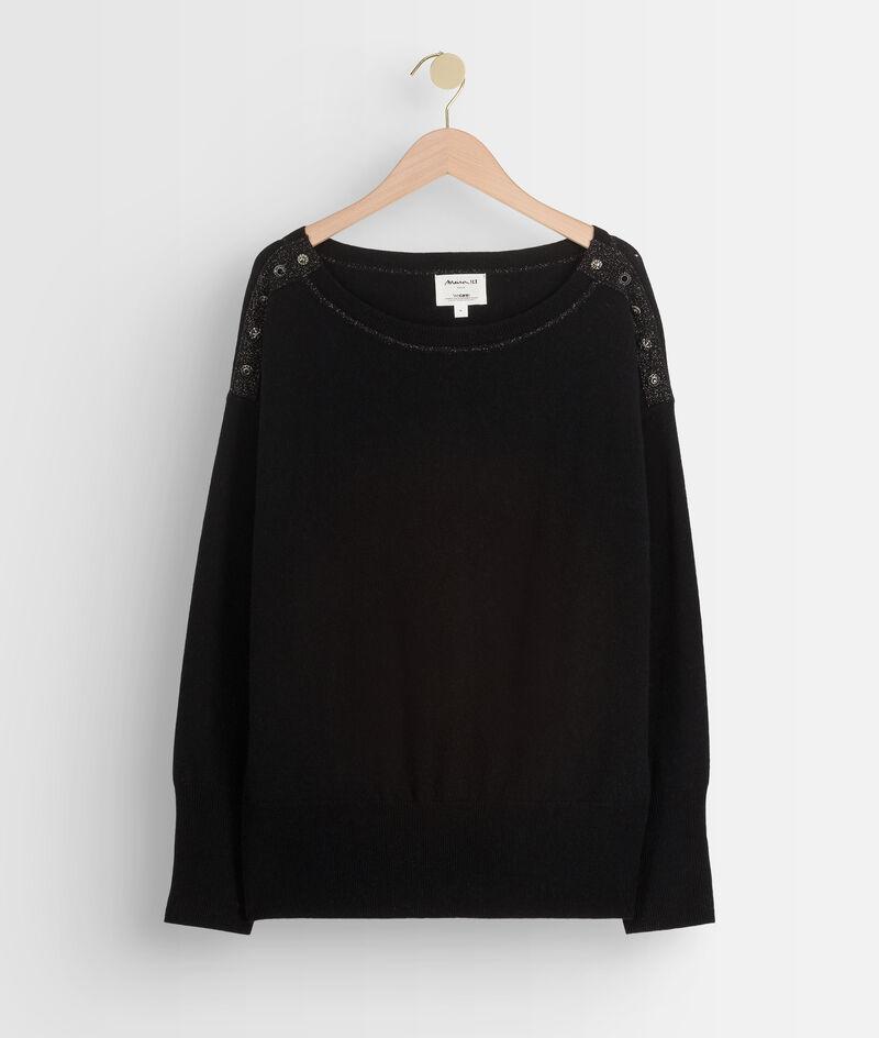 Zwarte trui van wol en kasjmier Tanguy PhotoZ   1-2-3