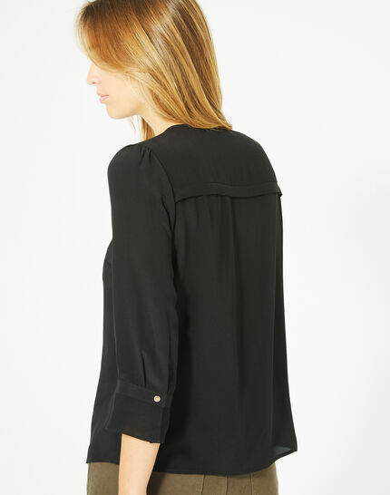 Dorothée black silk blouse (4) - 1-2-3