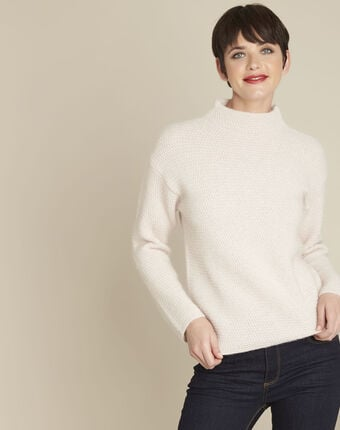 Pull nude col montant ble poudre.