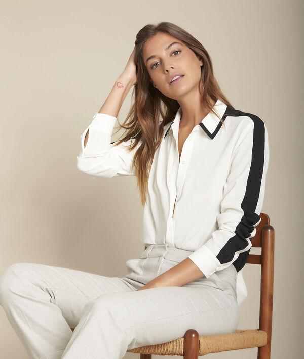Chemise blanche en polyester recyclé Margot PhotoZ | 1-2-3