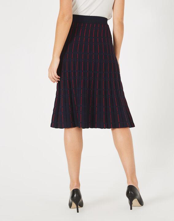 Fado navy blue knit dance skirt (5) - 1-2-3
