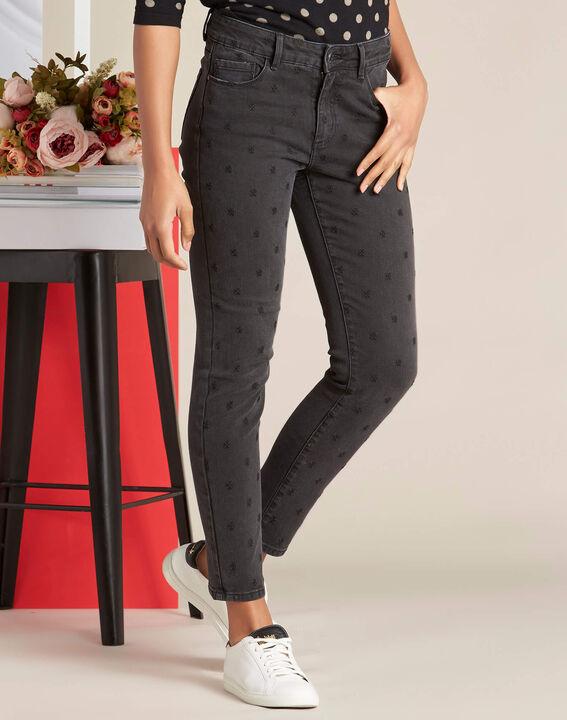 Graue bestickte 7/8-Jeans Vendome (3) - 1-2-3