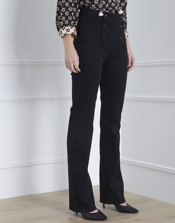 Schwarze Bootcut-Jeans Caella (2) - Maison 123
