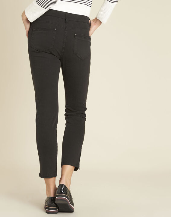Opéra slim-cut black jeans with zip detailing (4) - 1-2-3