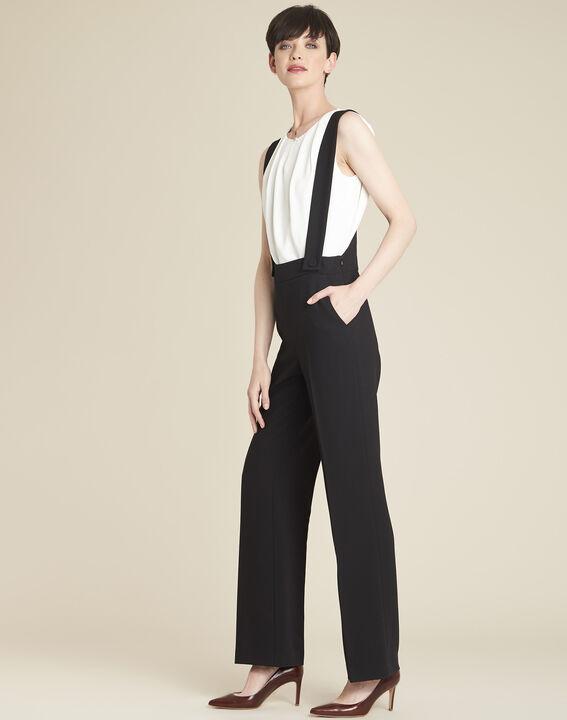 Zwarte broek met schouderbandjes Hamlet PhotoZ | 1-2-3