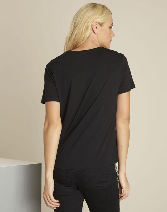 Tee-shirt noir imprimé Gartiste (4) - 1-2-3
