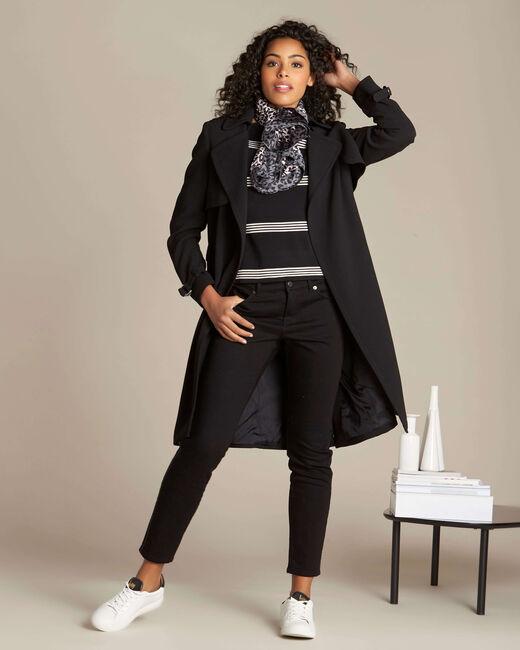 Nuage black striped sweater (1) - 1-2-3