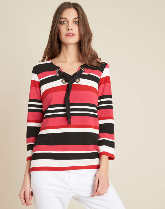 Eboreal striped red sweater with bow (3) - 1-2-3