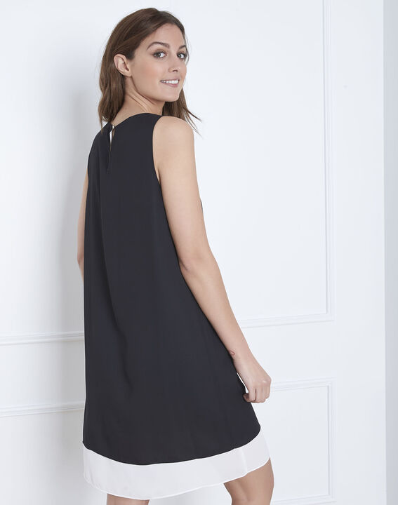Isola black and white dress with gold detailing (4) - 1-2-3