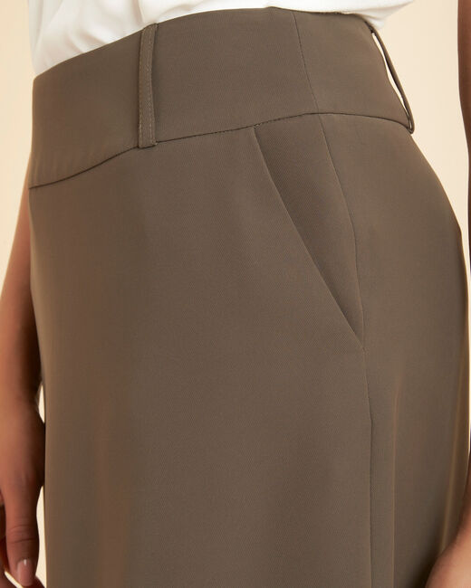 Frost long khaki skirt (1) - 1-2-3