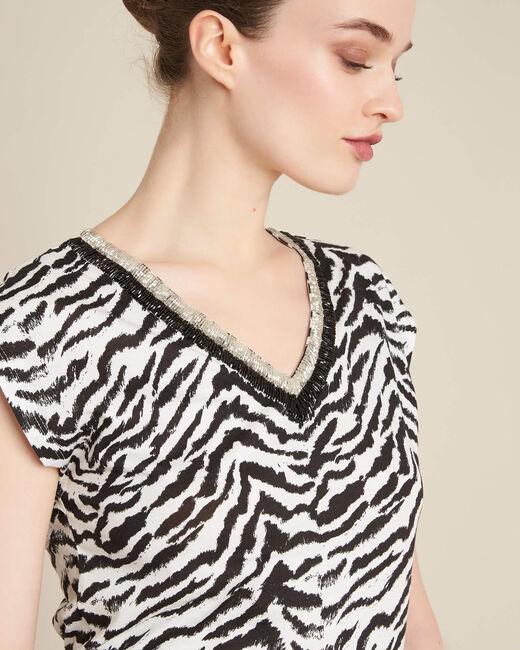 Ete animal print T-Shirt with decorative neckline (2) - 1-2-3