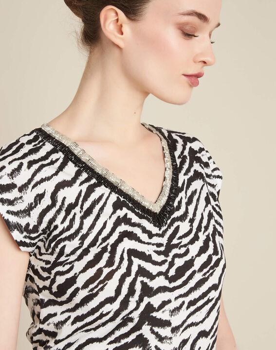 Ete animal print T-Shirt with decorative neckline PhotoZ   1-2-3