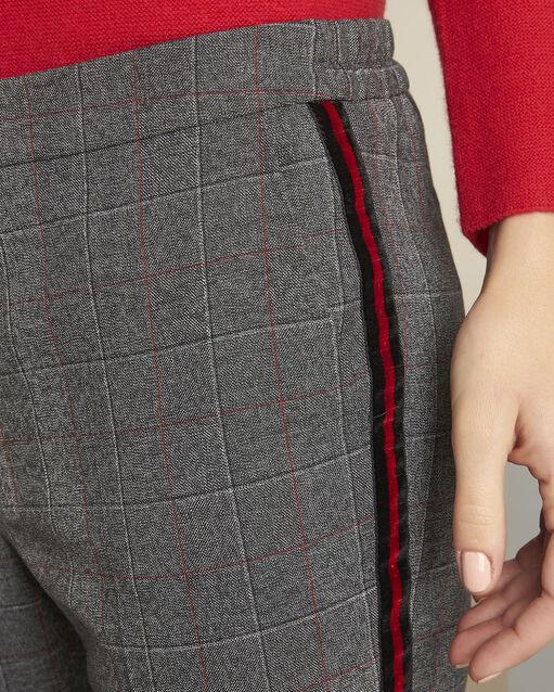 Pantalon gris à carreaux Volt (2) - 1-2-3