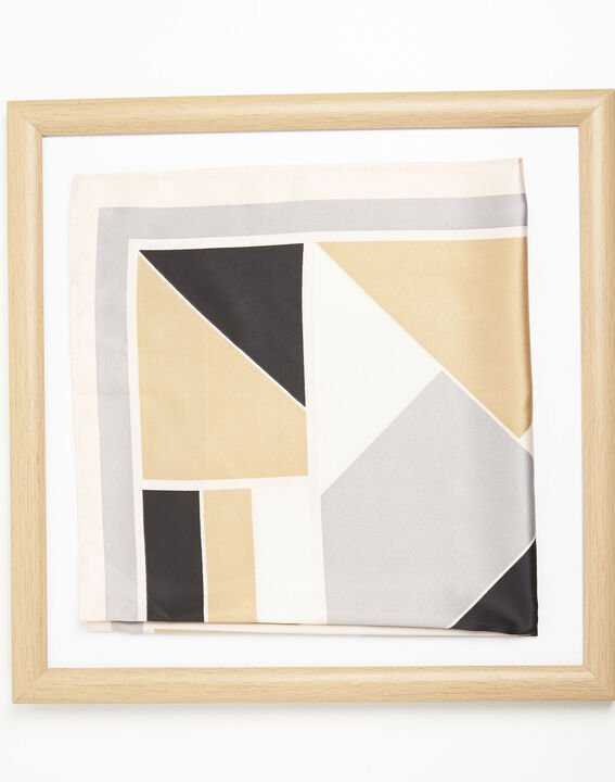 Follow geometric print nude scarf (2) - 1-2-3