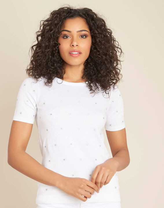 Nebuleuse white sweater with embroidered constellation (3) - 1-2-3