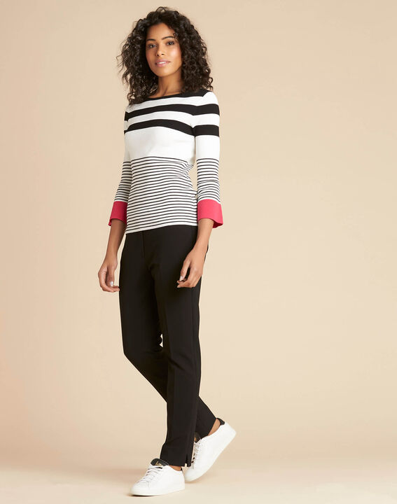 Pins pink wide-striped sweater (3) - 1-2-3