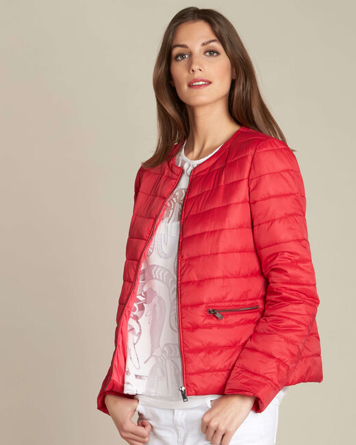 Yvana fine red quilted jacket (2) - 1-2-3