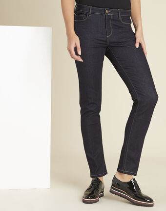 Vendôme raw denim long-cut jeans dark indigo.