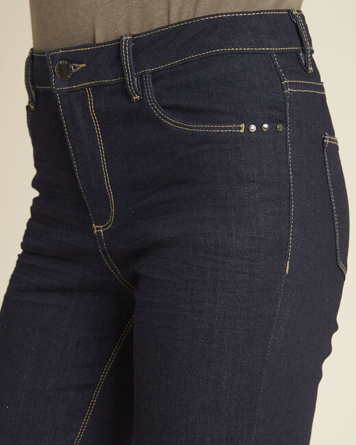 Vendôme 7/8 length navy blue jeans with zipped detailing (2) - 1-2-3